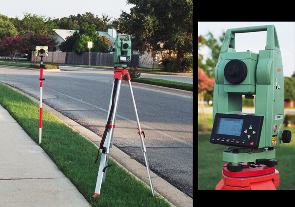 Total Station and Prism